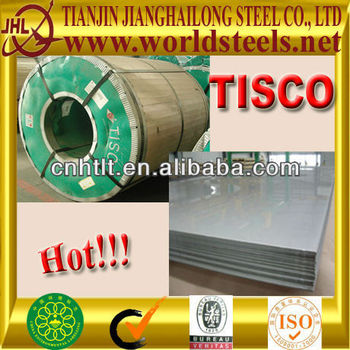 Best price TISCO stainless steel sheet prices