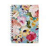 A5 Hard cover spiral notebook high quality hardcover flower design