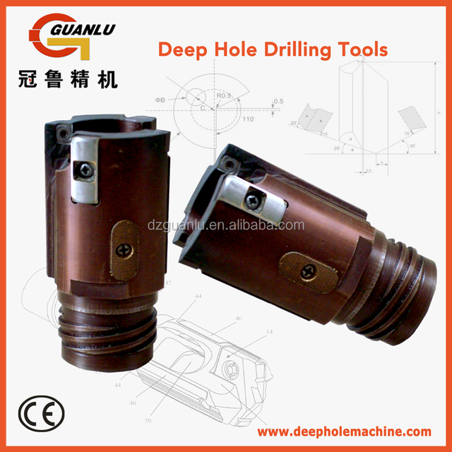 indexable BTA drill head for deep hole drilling machine