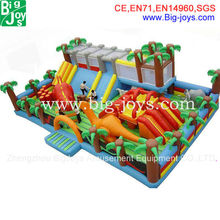 Hot Sale Cartoon inflatable big fun city for sale, commercial Mega inflatable playground, inflatable amusement park