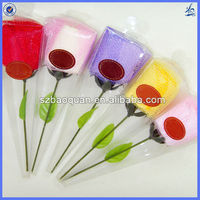 wholesale mini wedding rose cake towel/gift towel