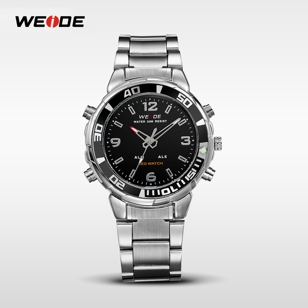 WEIDE 3atm water resistant stainless steel watch case back