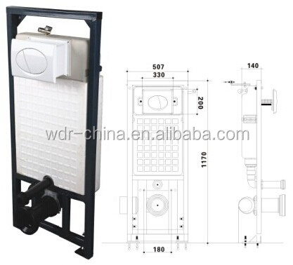 W-100J Concealed Cistern for Wall Hung Toilet