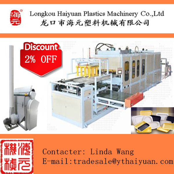 High output PS foam plastic box/plate/tray making machine