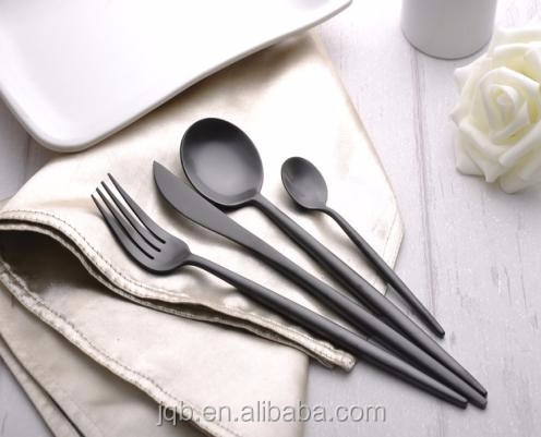 Luxury Five Star Hotel stainless steel elegant metal rose gold cutlery