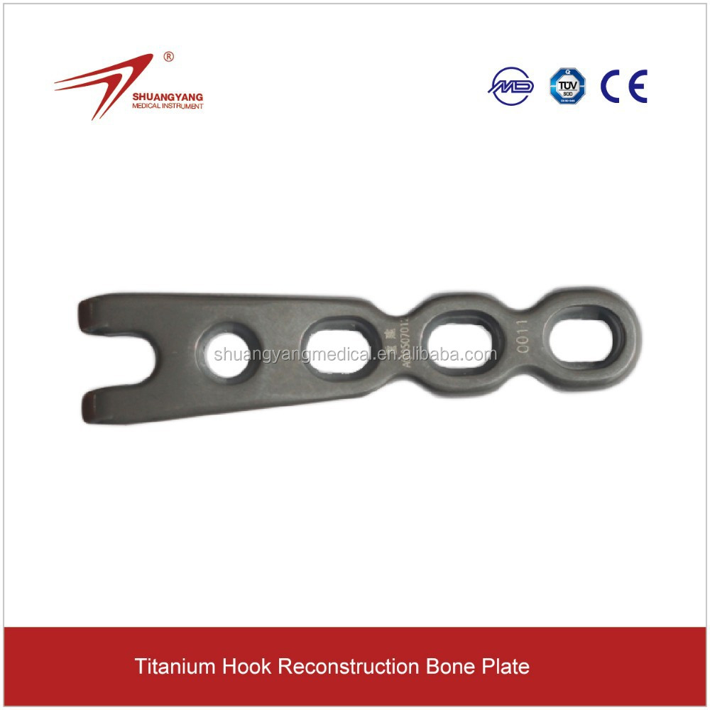 Bone implant for hook reconstruction plate