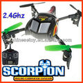 2.4Ghz 4 Channel WL 3D 4 Axis R/C Quadcopter Radio Control Helicopter with gyro,LCD Screen Controller RC UFO