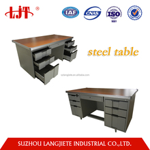 China cheap modern furniture cherry wood executive computer office desk with aluminum edge