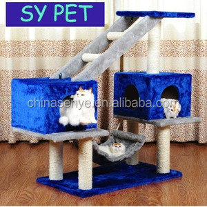 Modern cat furniture cat tree with hanging toy