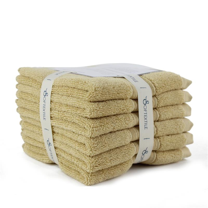 <strong>100</strong>% cotton aviation hand towel in tray/Wash <strong>N</strong> Dry