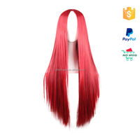 wholesale red straight kinky twist braided lace wig