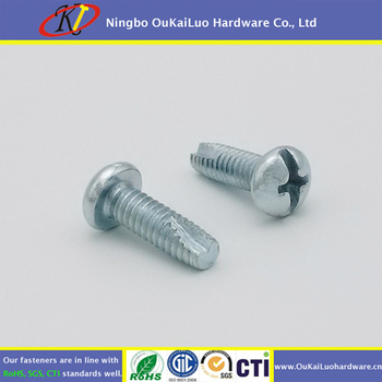 Zinc Plated Pan Head Type 23 Thread Cutting Screws
