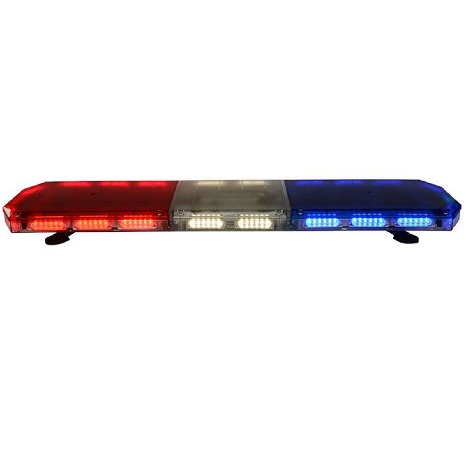 48 inches red blue emergency warning light bar
