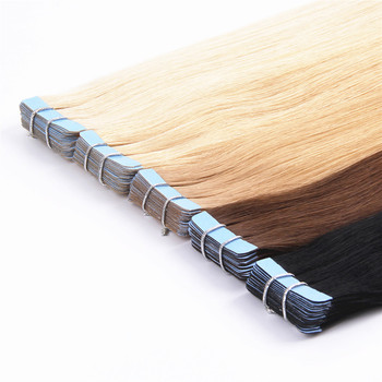 top quality double drawn 100% remy tape hair extensions