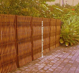 BAMBOO GARDEN FENCE PANEL FULL RAFT WITH WEAVE