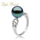 Factory Supply Vintage 925 Silver Jewelry Zircon Tahitian pearl Ring Jewellery