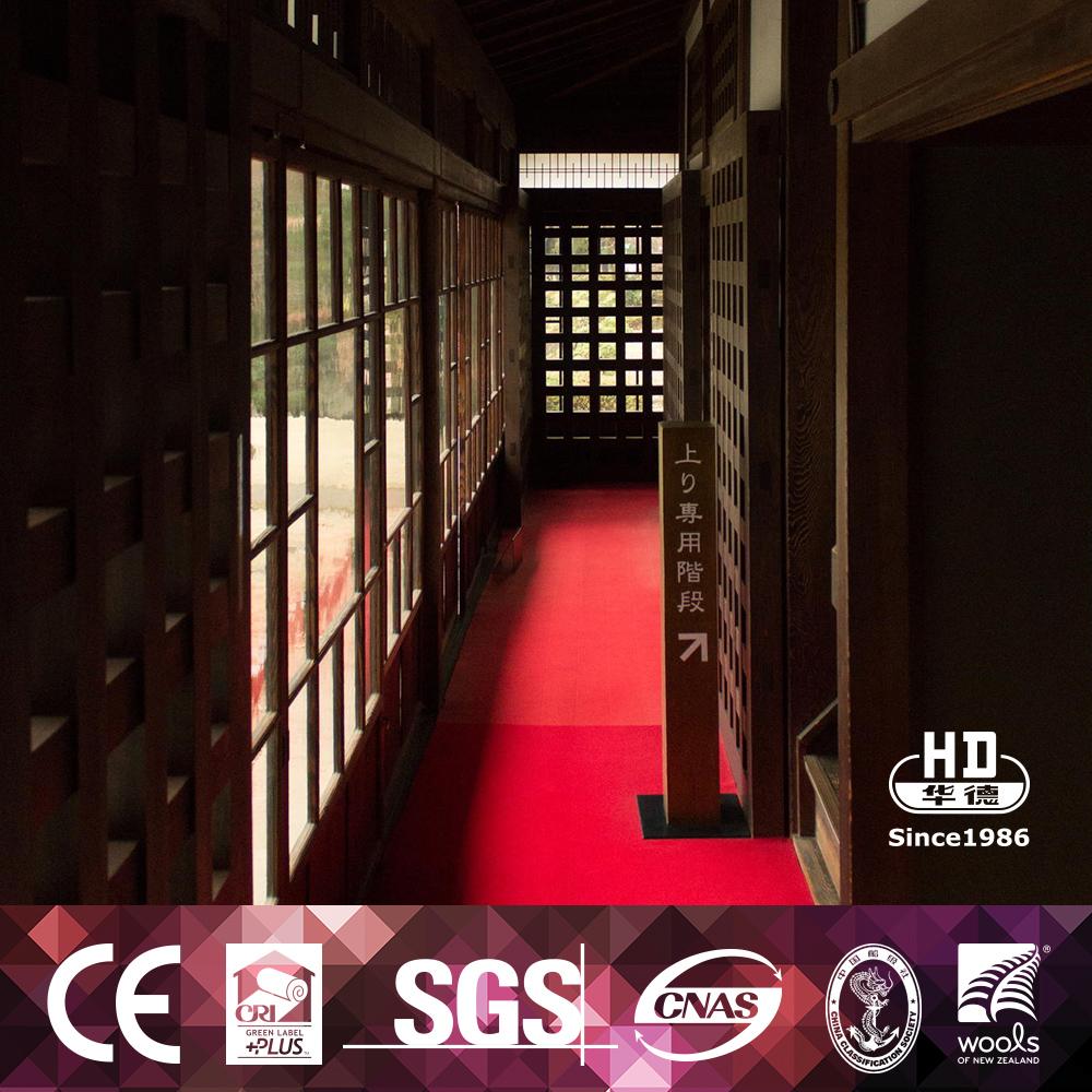 Muestra gratuita de buena calidad resistente al fuego pavo rojo alfombra alfombra del piso for Alfombras de buena calidad