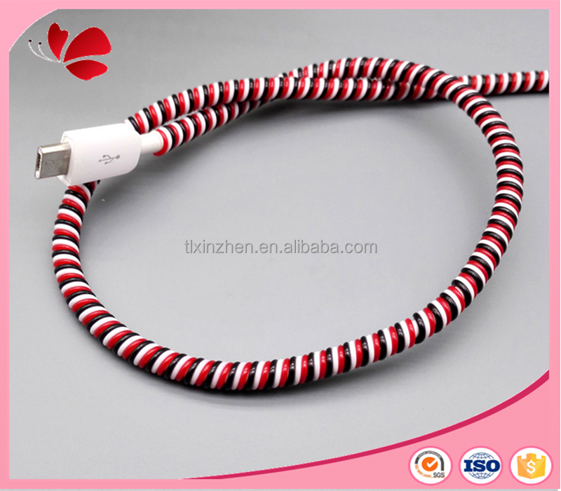 Flexible Cable Protection : Flexible cable protector for headphone tablet charger cord