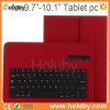 new products Bluetooth Keyboard with Detachable Leather Case cover for iPad/Samsung/9.7-10.1 inch Android Tablet PC/IOS System