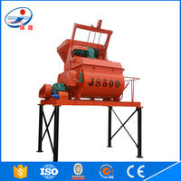 2016 New Product JS500 Twin Shaft Concrete Mixer