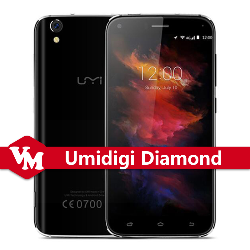 Original UMI Diamond Umi Diamond 4G LTE Cellphone MTK6753 Octa Core 5 inch 3GB RAM 16GB ROM Android 6.0 8MP Camera Mobile Phone