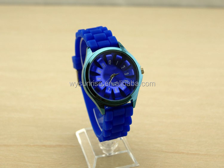 branded silicone original quartz jelly wrist watch made in china