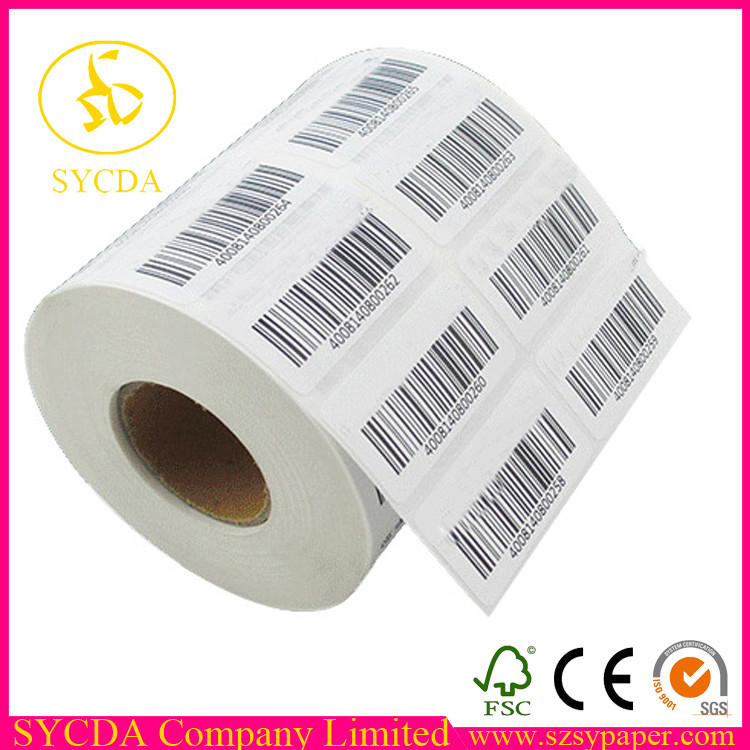 100% Wood Pulp Self-Adhesive Sticker mailing labels For Industrial