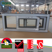 88mm white pvc profile sliding windows in low price, Sliding Window
