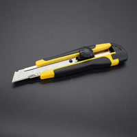 18mm width blade rubber covered knife cutter utility knife
