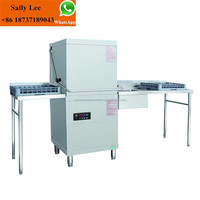 Best automatic dishwasher machine/stainless steel dishwasher table/smallest hood type dishwashers