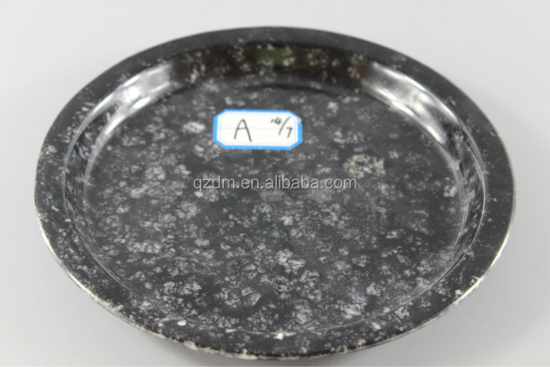 Marble Looking Melamine Round Plates
