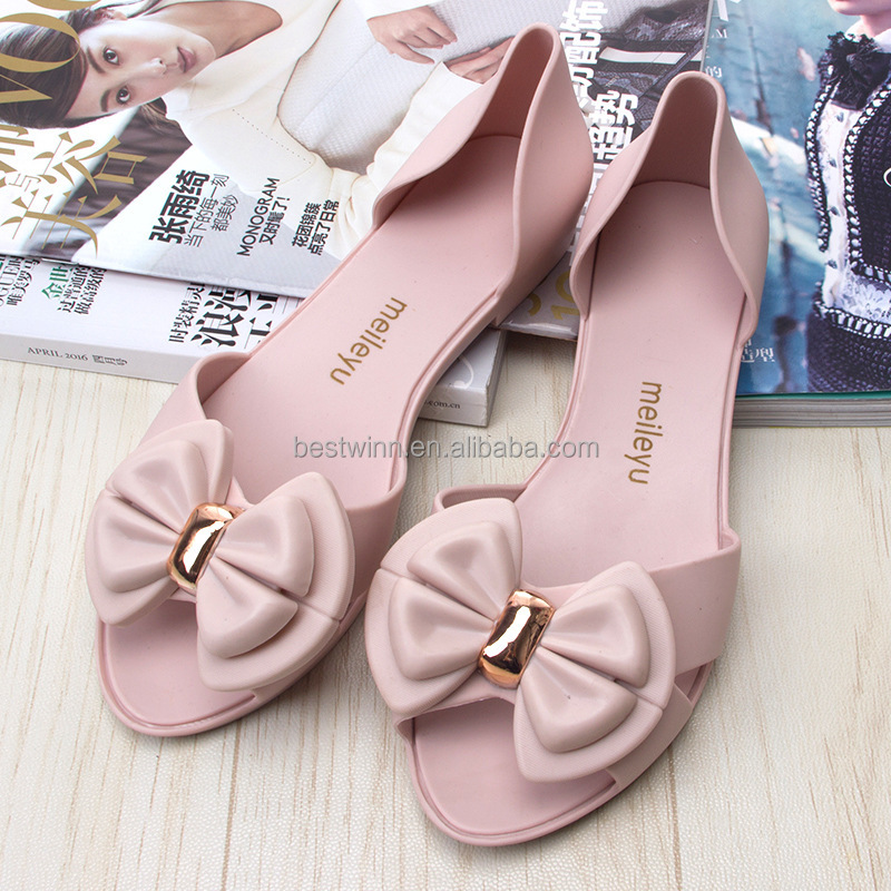 Women Crystal Shoes Plastic Shoes Jelly Flat Sandals
