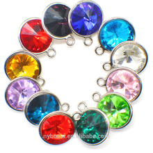 Be in stock new style 2017 Zodiac dangle Jewelry birthstone charms