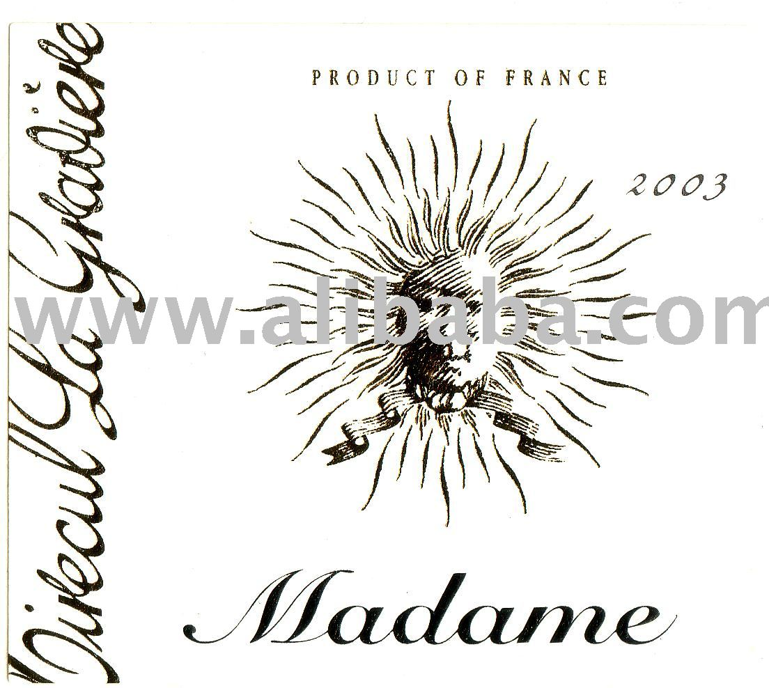 AOC Cuvee Madame great sweet white wine