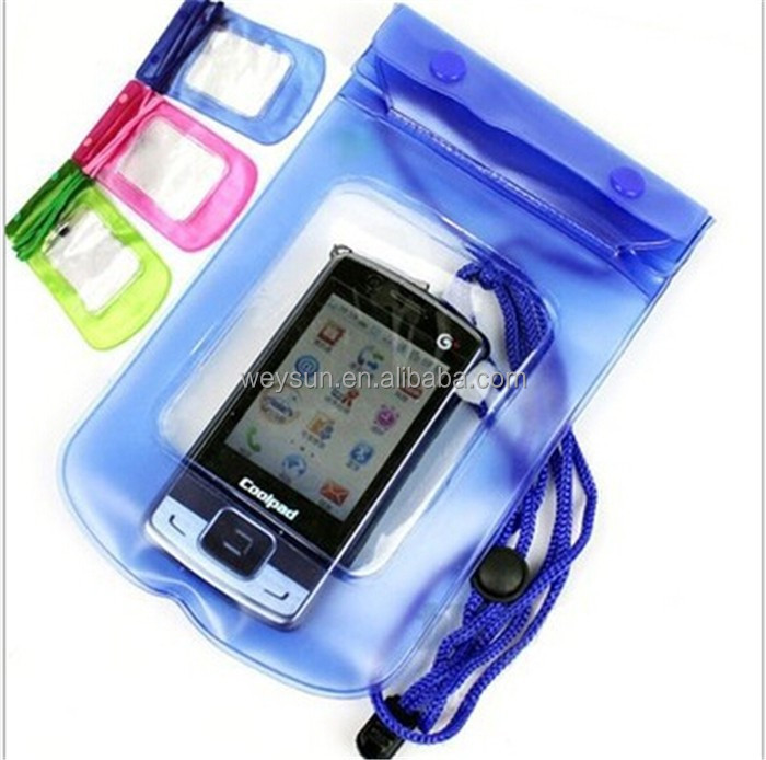 23.5*12.3CM PVC portable outdoor transparent Waterproof mobile/cell phone/camera bag/case
