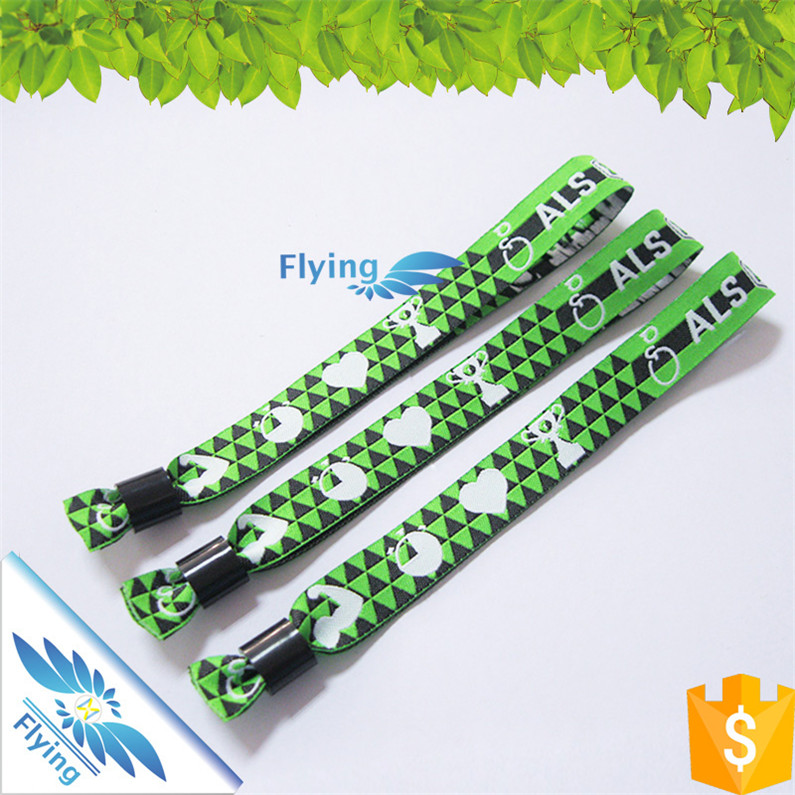 Stylish Woven Fabric Wrist Bands with Custom Logo, High Quality but Favorable Factry Price