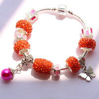 Wholesale red beads handmade charm bracelet cheap price beautiful bracelet