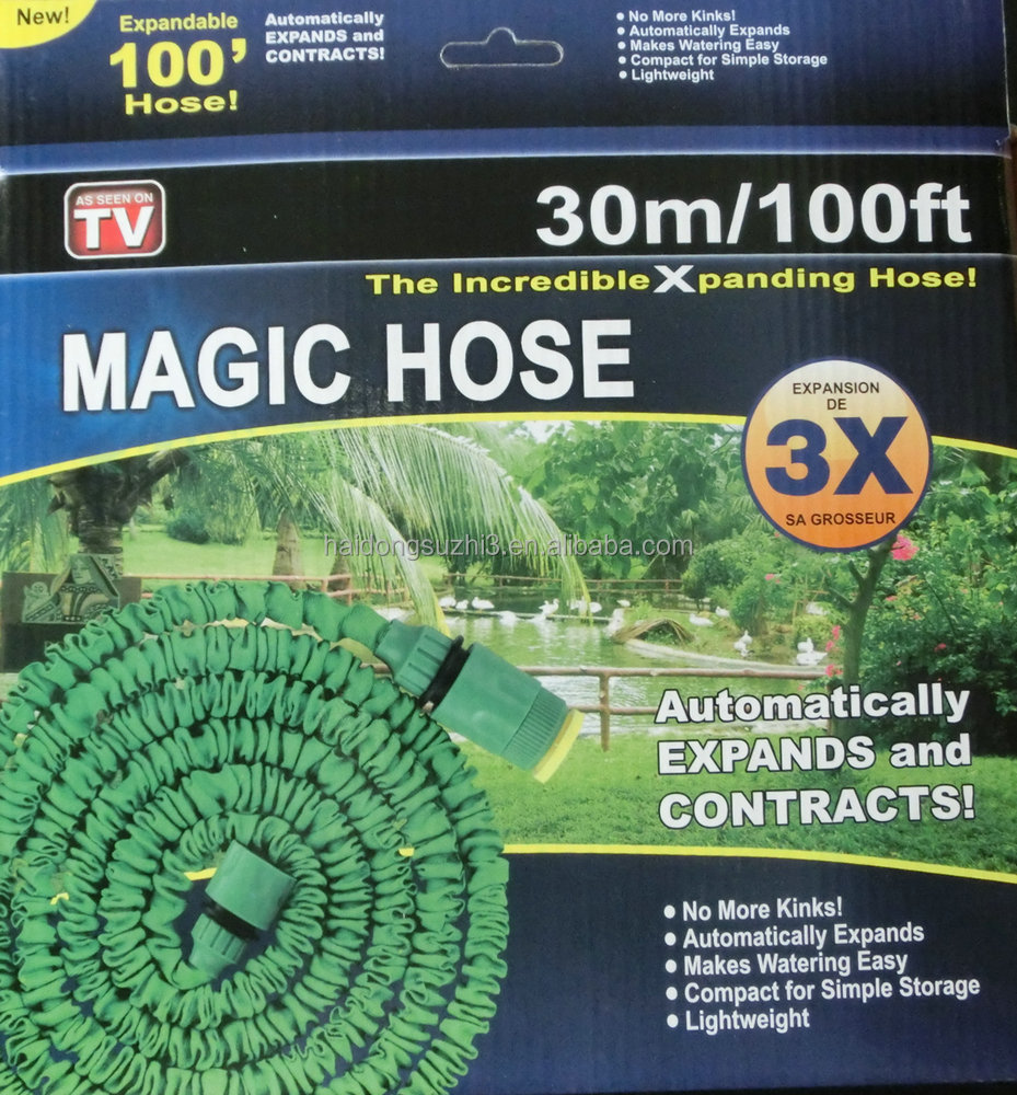 2016 Hot product 75FT Magic snake Hose With spray Nozzles Expandable Garden Hose Flexible Stretch Hose As Seen On TV