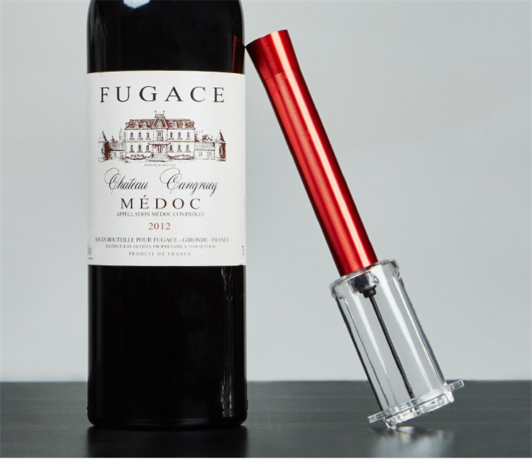 OEM logo Aluminium alloy Needle air pressure wine opener pump