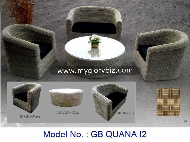 Rattan Sofa Set, Rattan Series, Outdoor Furniture