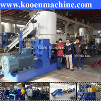 pe film granulating line, plastic film granulation machine
