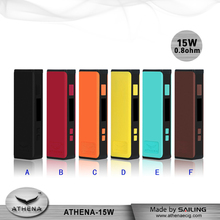 electronic cigarette Athena box mod 15w mini variable voltage wattage ego box mod