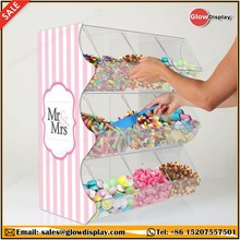 GlowDisplay Acrylic Stacking Pick and Mix Dispensers Sweet Display Wedding Container Stand Candy Bins