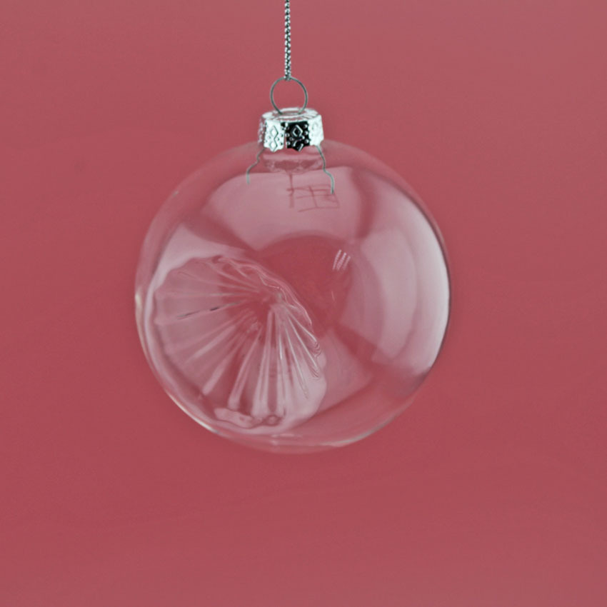 Hanging clear glass ball for christmas ornaments buy 100 for Purchase christmas decorations