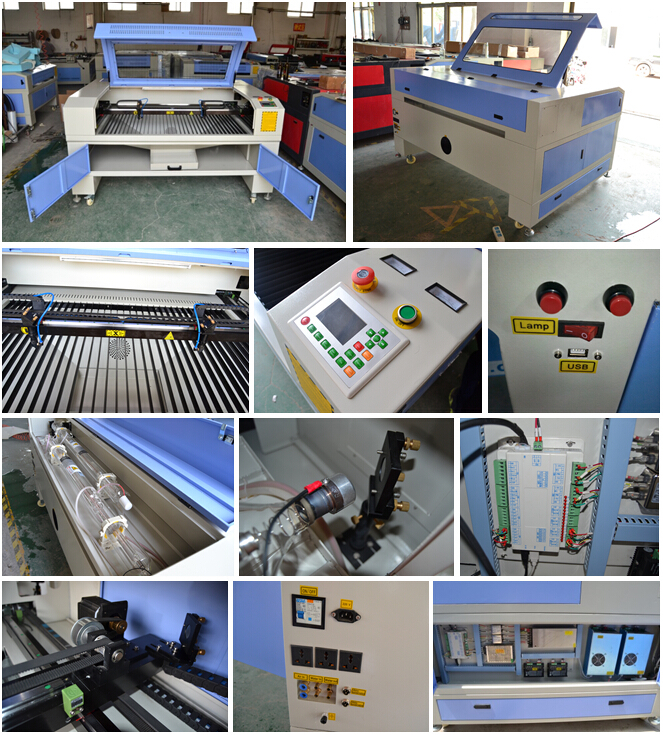 Advertising sign laser cutting machine/wood nameplate engraving cutting machine with two head