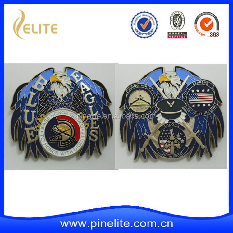 custom eagle shaped 3D metal challenge coin
