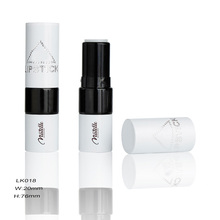 White And Black Empty Aluminum Korea Lipstick Comestic Tube