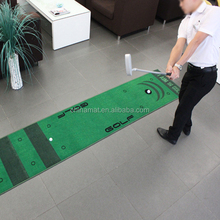 Anti- slip rubber backed putting mat