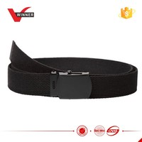 Black military web belt with black buckle