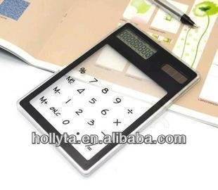 Touch screen angled display desktop calculator/8 digit electronic calculator